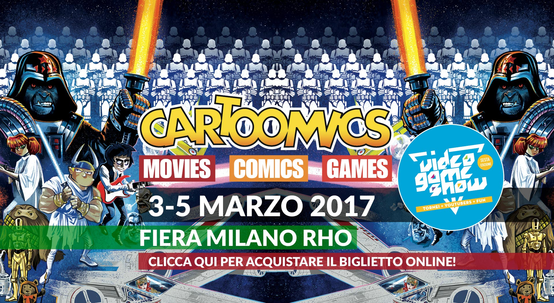 Cartoomics 2017 slide milano etno tv for Rho fiera eventi oggi