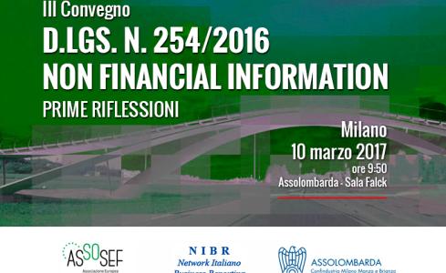 LA NUOVA LEGGE SULLE NON FINANCIAL INFORMATION: UN'OPPORTUNITA' PER LE IMPRESE ITALIANE