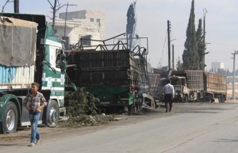 CAMION  BOMBA CONTRO CONVOGLIO IN SIRIA