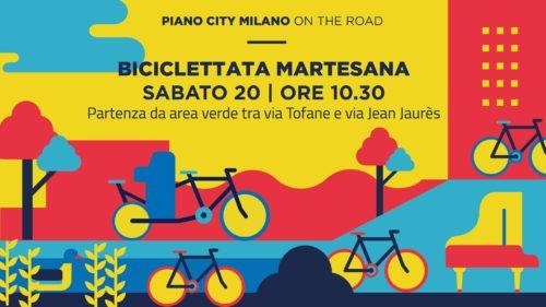 PIANO CITY MILANO ON THE ROAD BICICLETTATA MARTESANA