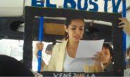TG IN AUTOBUS IN VENEZUELA CONTRO LA CENSURA