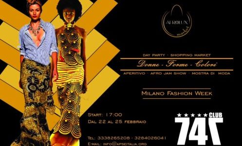 MILANO FASHION WEEK:  DAL  22 L'AFRICA SI METTE IN MOSTRA ALL'AFRO LUX MARKET