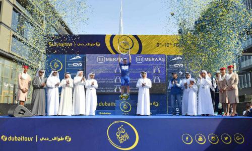 Elia Viviani conclude il Dubai Tour in grande stile.