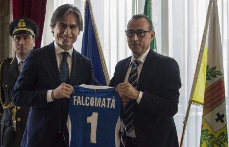 Nazionale Maschile: gli Azzurri ricevuti dal sindaco di Reggio Calabria Giuseppe Falcomatà