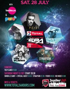 Emozionante line-up di musica confermata per Total 24 ore di Spa