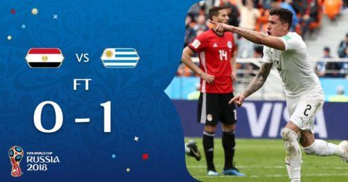 L'URUGUAY BATTE PER 1-0 L'ARABIA SAUDITA E SI QUALIFICA PER GLI OTTAVI DI FINALE