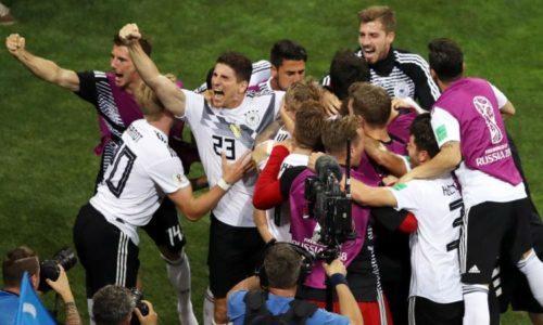 LA GERMANIA VINCE 2-1 CONTRO LA SVEZIA I CAMPIONI DEL MONDO NON DELUDONO