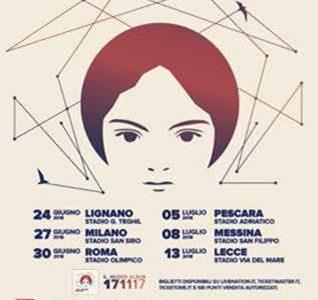 E' RECORD PER UNA BAND ITALIANA  6 STADI IN UN UNICO TOUR