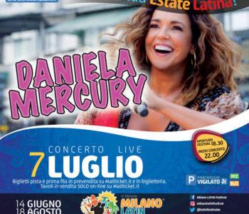 DANIELA MERCURY AL MILANO LATIN FESTIVAL DI ASSAGO SABATO 7 LUGLIO