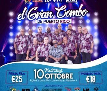 """""""EL GRAN COMBO DE PUERTO RICO"""", LEGGENDARIA ORCHESTRA DI SALSA,  STASERA IN CONCERTO AL VIP CLUB DI SESTO"""
