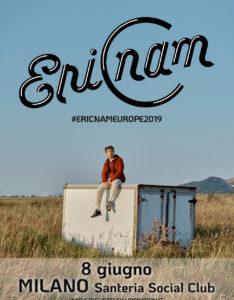 ERIC NAM uno degli artisti della K-POP più popolari in concerto in Italia l'8 giugno  alla Santeria Social Club di Milano