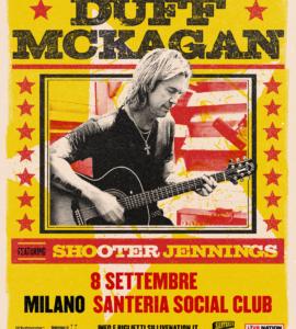 DUFF MCKAGAN  Il bassista dei Guns 'N' Roses suonerà alla Santeria Social Club  di Milano l'8 settembre