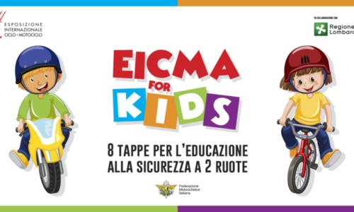 MILANO. EICMA FOR KIDS AL VIA DOMENICA IL PROGETTO DI EDUCAZIONE ALLE DUE RUOTE