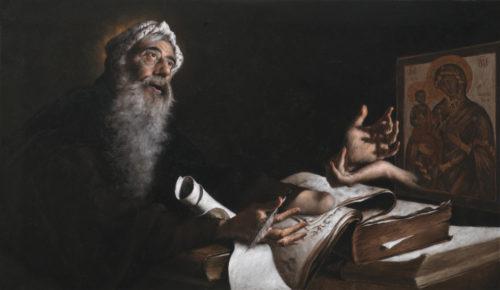 Presentazione del restauro della vetrata  di san Giovanni Damasceno con un omaggio a Giovanni Hajnal
