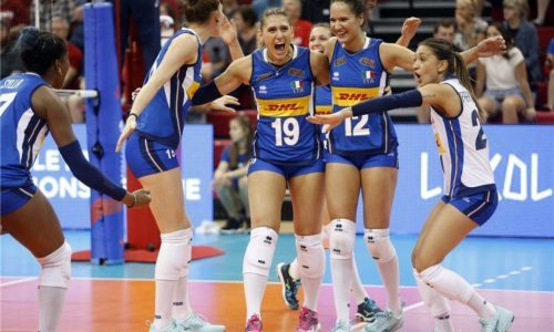 Volleyball Nations League: le azzurre battono la Corea del Sud e salgono al primo posto